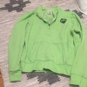 Sale!VS PINK Quarter Zip Pullover
